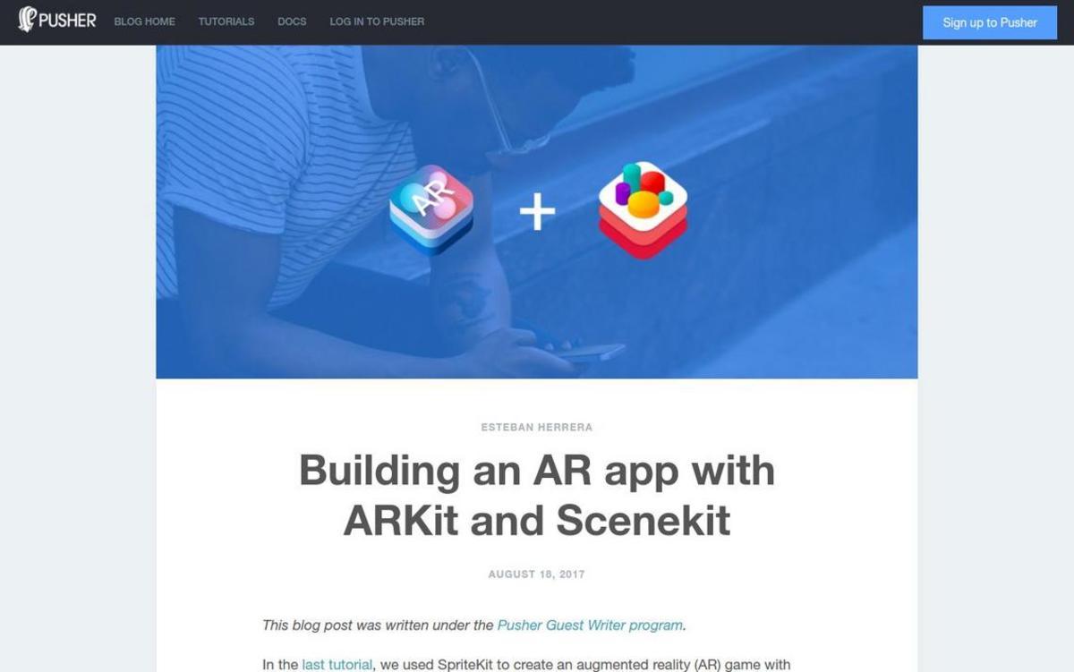 Building an AR app with ARKit and Scenekit - Pusher Blog