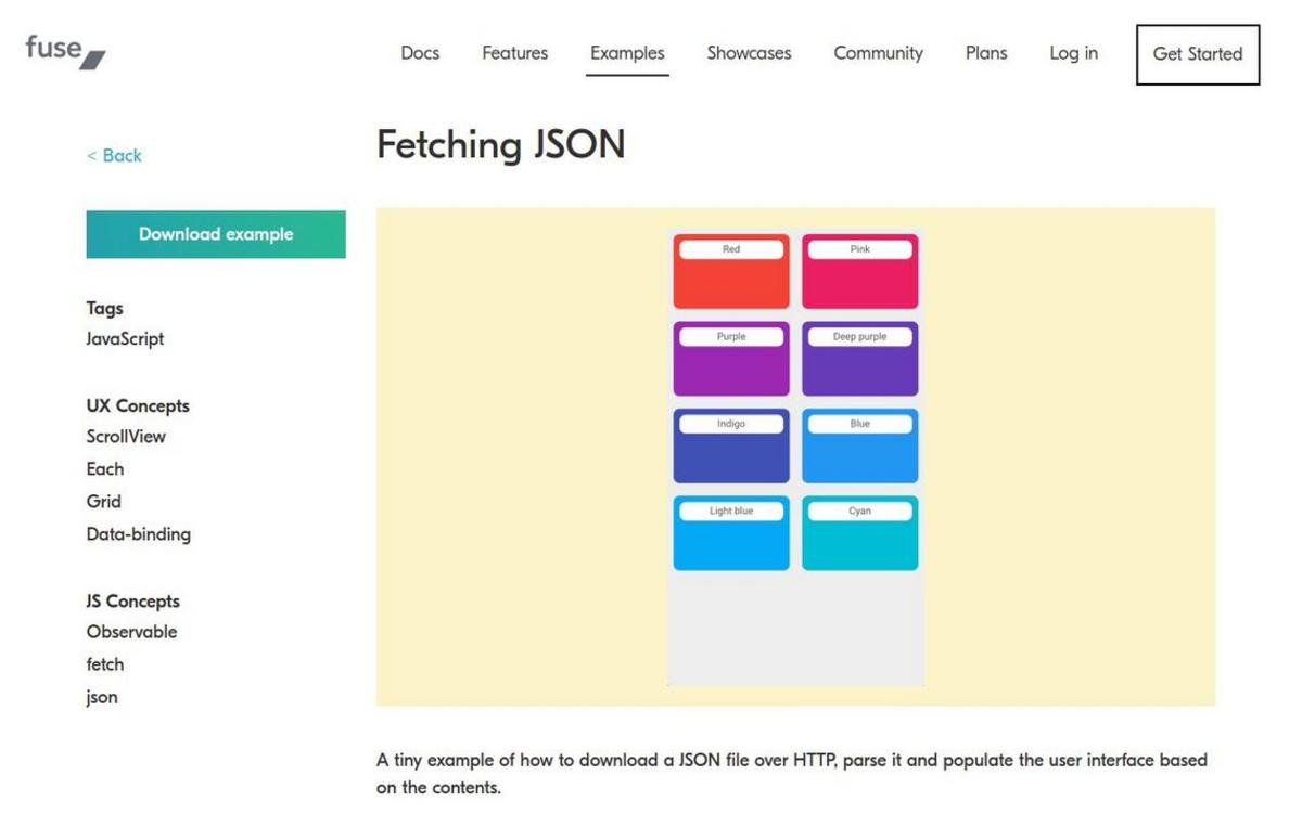 Fuse: Fetching JSON - Examples