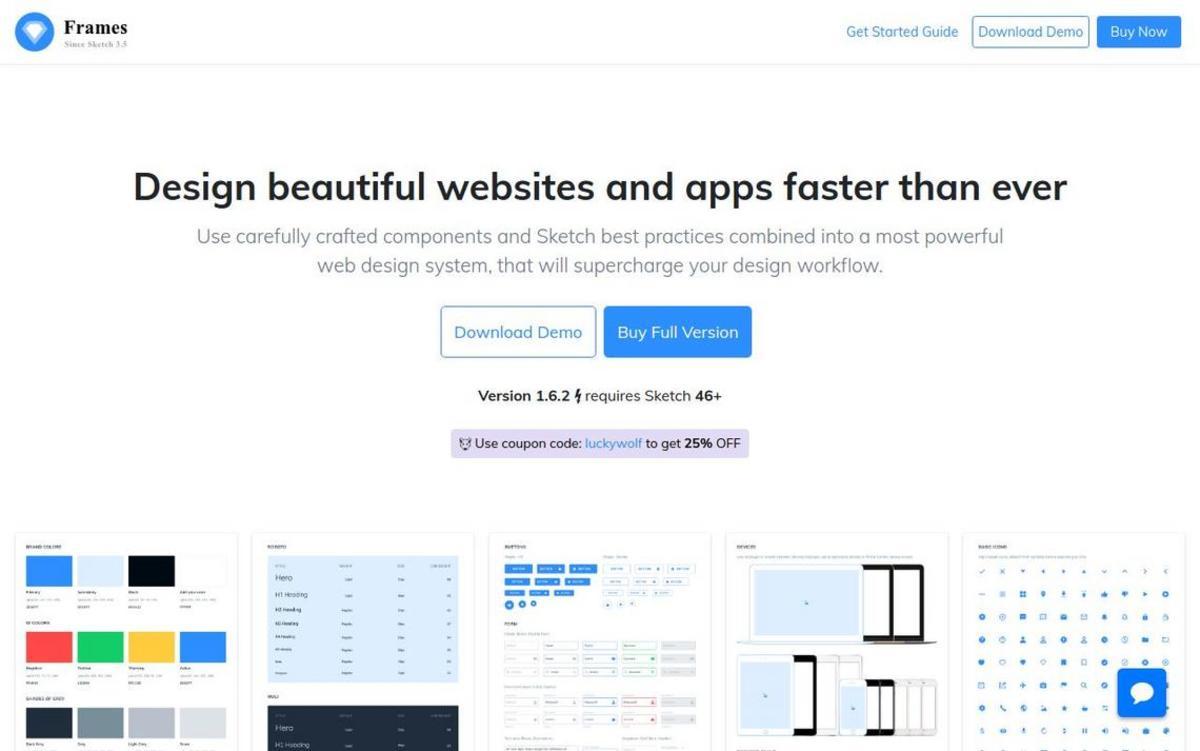 Frames: Web Design System for Sketch (Special 10% 0ff)